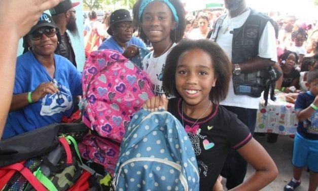 Washington Park donates 600 backpacks to community as kids go back to school