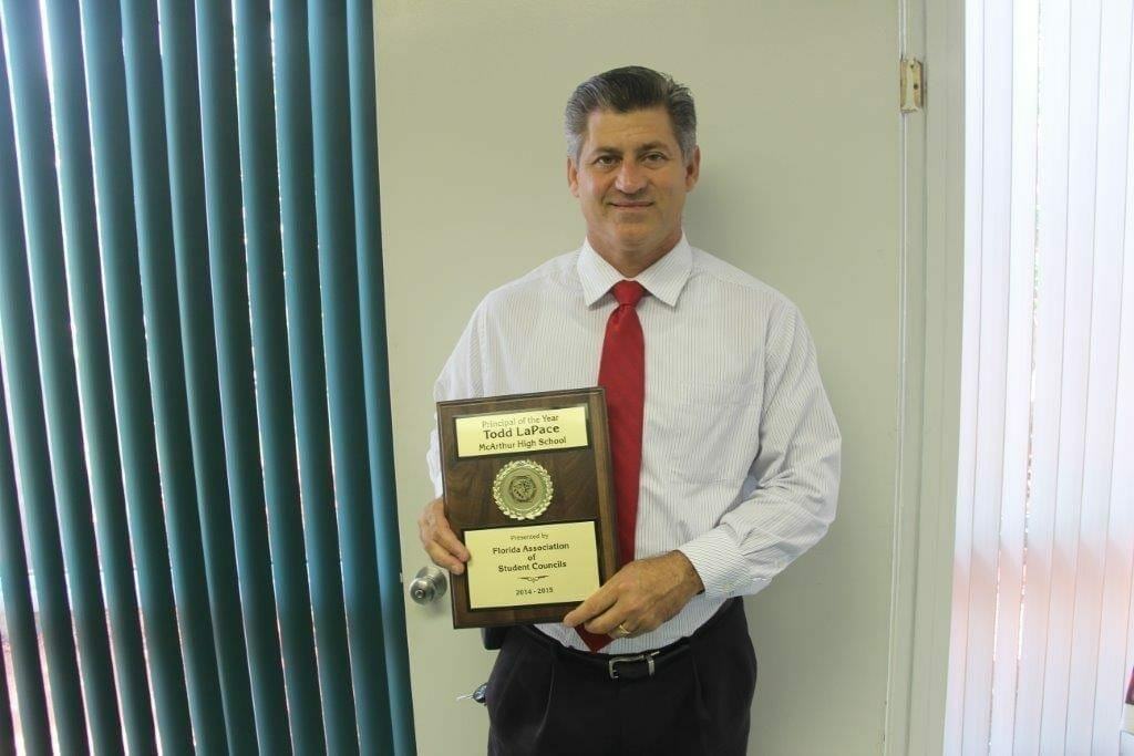 McArthur High School Principal Todd LaPace earns recognition