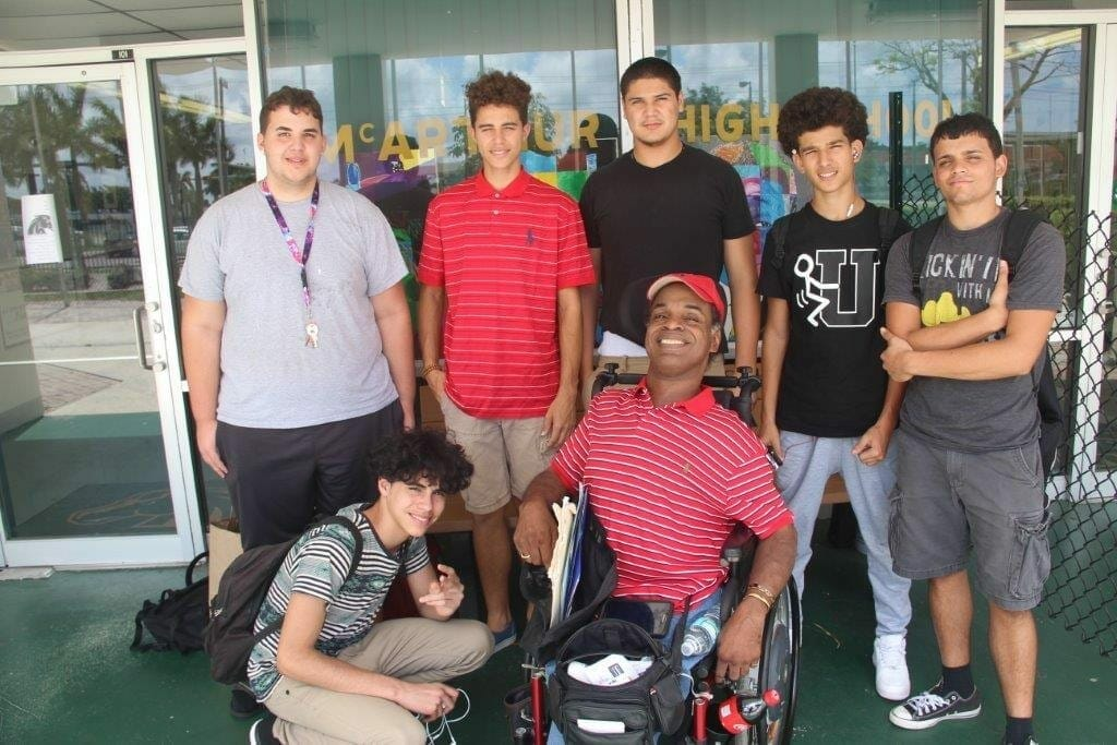 Local retired teacher with cerebral palsy mentors students at McArthur High School