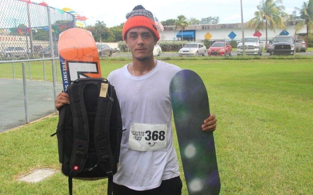 Hollywood resident Enzo Juarez wins Hollywood Skate Off