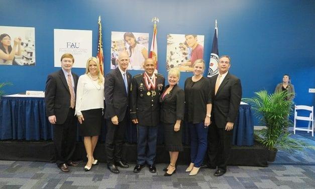 First Sergeant Manuel Valdez, Hollywood Hills High School Awarded Governor's Shine Award