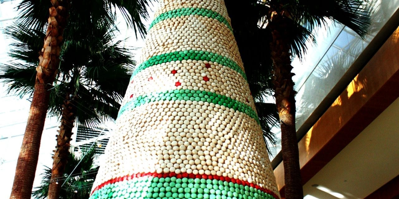 Holiday tree at the Diplomat features 12,500 hand-crafted French Macarons