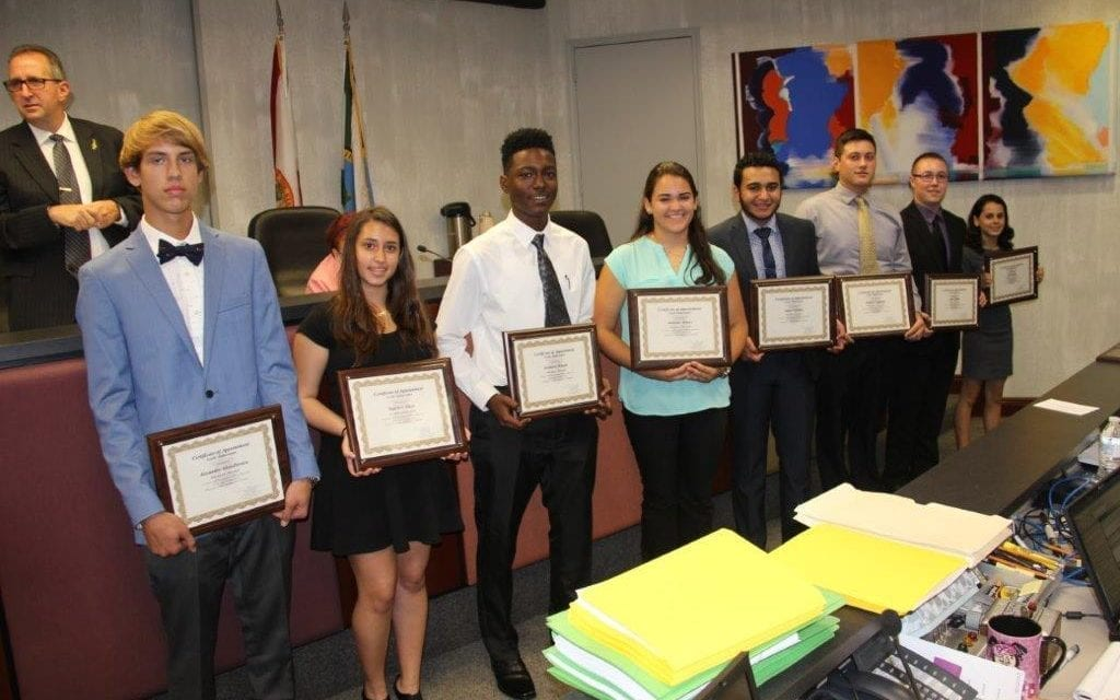 Commission honors Hollywood Youth Ambassadors
