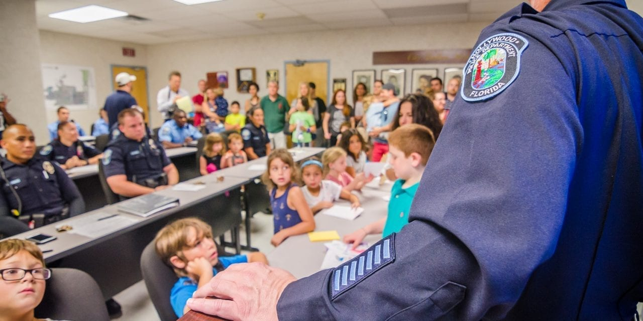 Local kids give thanks to Hollywood Police Department
