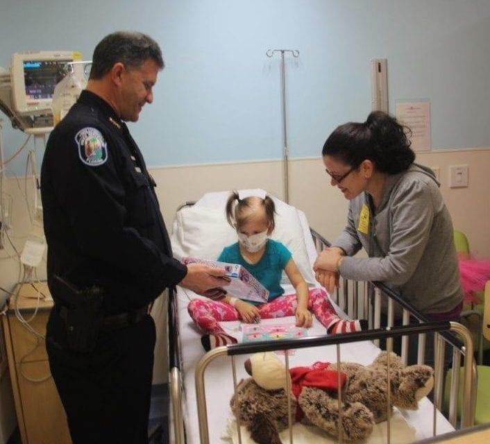 Hollywood Police visit Joe DiMaggio Children's Hospital
