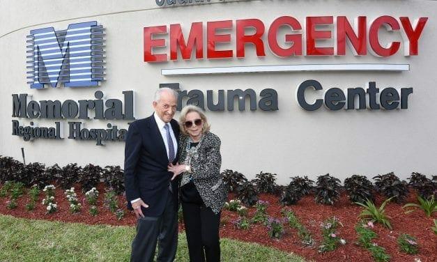 Emergency Dept. at Memorial Regional Named For Hollywood Residents Judith and Robert Cornfeld