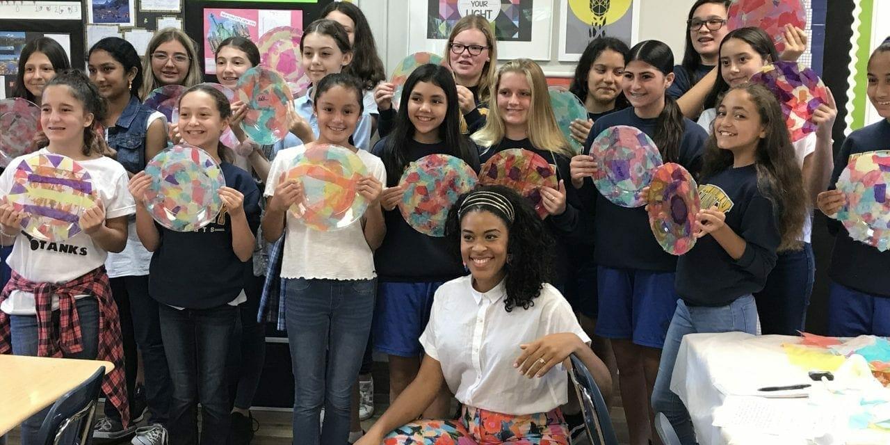 """Making It"" Finalist Amber Kemp-Gerstel Got Crafty with Nativity School DIYers"