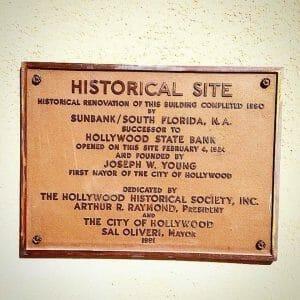 Bank building plaque