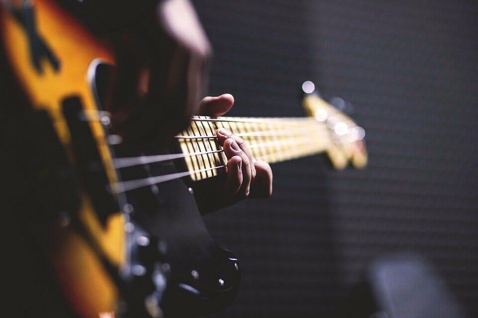 Bass Guitar, Chord, Close Up, Electric Guitar, Fingers
